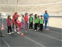 The Olympic Gold Medallist  of Gymnastics Dimosthenis Tambakos at Panathenaic Stadium for Kids' Athletics