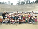 The 4th Primary School of Kesariani and the 61st Primary School of Athens at Kids' Athletics