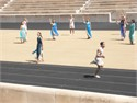 "The Hellenic Olympic Academy celebrated  the day of Olympic Education ""The first Modern Olympic Games...Athens April 6th 1896"" at Panathenaic Stadium"