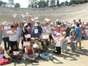 The 4th Primary School of Leukada, the 2nd Primary School of Alimos and the 5th Primary School of Nea Smirni at Panathenaic Stadium